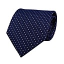 Lightinthebox ES  marfil y puntos azules corbata de seda regulares