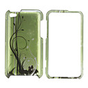 Lines Pattern Protective Back Case and Bumper Frame for iPod iPod Touch 4 (Green)
