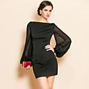 Clothing & Accessories TS Simplicity Beads Lantern Sleeve Jersey Sheath Dress