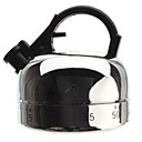 Kettle Shaped Stainless Steel 60Minute Kitchen Cooking Mechanical Timer