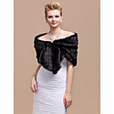 Elegant Faux Rabbit Fur Party  Evening Shawl  Wrap