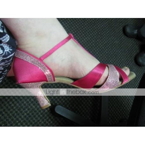 Sparkling Glitter Upper Latin Dance Shoes Ballroom Shoes for Women