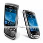 Textured Stylish Protective Leather Case for Blackberry 9000 (Black)