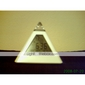 Pyramid Shaped Colorful Light Digital Alarm Clock Calendar Thermometer (3xAAA)