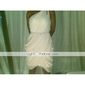 Sheath/Column One Shoulder Knee-length Chiffon Over Mading Bridesmaid/Wedding Party Dress