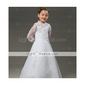 Fairy A-line Floor-length Satin Organza Lace Flower Girl Dress / First Communion Dress (HSX635)