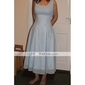 A-line Straps Knee-length Chiffon Bridesmaid/ Wedding Party Dress