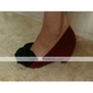 Leatherette Upper Wedge Heel Closed Toe With Bowknot Casual/ Honeymoon Shoes.More Colors Available
