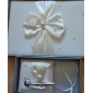 Ivory Wedding Guest Book And Pen Set With Pearl Accents