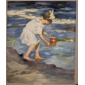 Hand-painted Oil Painting Brighton Beach Oil Painting by Edward Henry Potthast with Stretched Frame