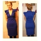 TS V шеи рябить bodycon платье (2 цвета)