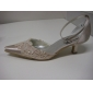 Satin Upper Low Heel Closed-toes Evening Party Shoes/ Special Occasion Shoes.More Colors Available