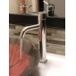 Solid Brass Bathroom Sink Faucet - Chrome Finish