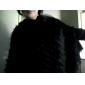 Genuine Rabbit Fur Hood/Poncho  – Large