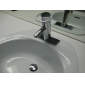 Contemporary Brass Bathroom Sink Faucet - Chrome Finish