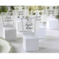 White Chair Favor Box With Place Card Holder (Set of 12)