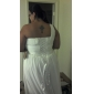 Sheath/Column One Shoulder Court Train Chiffon Wedding Dress