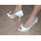 Hand-made Satin Stiletto Heel Peep Toe / Pumps With Rhinestone Party Evening Shoes (More Colors Available)