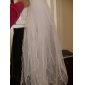 Two-tier Tulle With Pearls Fingertip Length Veil (More Colors)