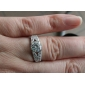 cubic zirconia og rhinestone med platina plating ring