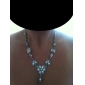 Fantastic Ladies Necklace and Earrings Jewelry Set (50 cm)