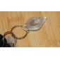 White Flashlight Keychain 22000mcd