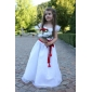FASCIENNE - Kleid fr Blumenmdchen aus Organza und Satin