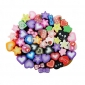 50pcs 3D Ceramic Stars Application Nail Decorations(Random Color)