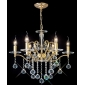SHIVELY - Lustre Vela Cristal com 4 Lmpadas