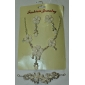 Gorgeous Alloy Elegant Rhinestone Wedding Jewelry Set Including Tiara,Necklace,Earrings