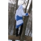 costume cosplay ispirato Assassin 's Creed III connor blu e giacca bianca