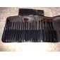 High class mixed wool hair makeup brush set with elegant black case (19 pcs)