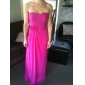 Sheath/Column Strapless Sweetheart Floor-length Chiffon Bridesmaid Dress