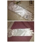 Satin Bridal Gloves With Bow (More Colors)