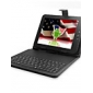 Super Protective Leather Keyboard case for 8 Inch Tablet PC/PAD (BLACK)