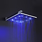 Sprinkle - 12 inch messing douche kop met kleur veranderende led licht