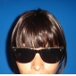 Clip in Lovely Synthetic Neat Bang with Temples - 4 Colors Available