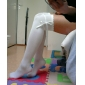 White Pure Color Cotton Casual Lolita Stockings