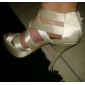 Satin Stiletto Heel Platform With Zipper Wedding Shoes (More Colors Available)