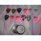 Alice - (A011C) Round Picks Steel Box with 12 Picks(Random Color)