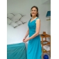 Sheath/ Column V-neck Floor-length Chiffon Matte Satin Mother of the Bride Dress