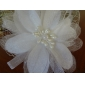20cm x 10cm Gorgeous Tulle Wedding Bridal White Flower/ Corsage/ Headpiece