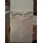 Vintage White Flor-de-lis Wedding Invitation With Insert (Set of 50)