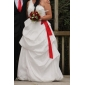 A-line One Shoulder Floor-length Taffeta Wedding Dress