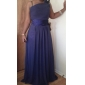 Sheath/Column One Shoulder Floor-length Chiffon/Mading Bridesmaid/Wedding Party Dress