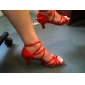 Customized Women's Satin Ankle Strap Latin / Ballroom Dance Shoes(More Colors)