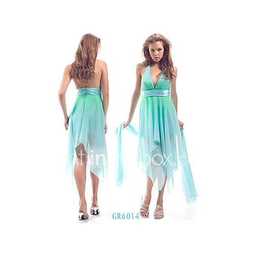 Fashion Aqua Wedding Evening Dress Bridesmaid Dress SizeS M L