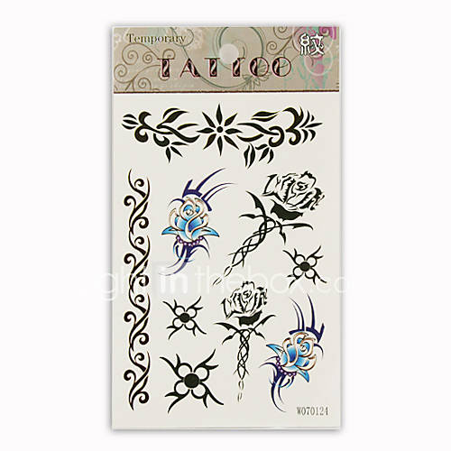 Butterfly & Sword Temporary Tattoos One Sheet(TYWS0008) .
