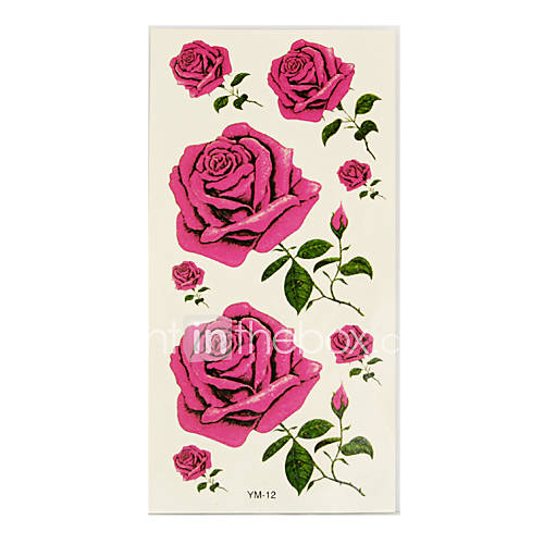 Beautiful Rose Temporary Tattoos One Sheet(TYWS0028) .