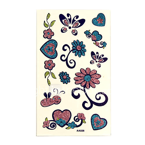You are looking at 10 Hot Glitter Temporary Tattoo Cards including various
